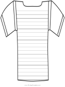 Cross Writing Template First Grade
