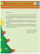 Church Secret Santa Letter Template