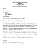 Non-cash Contribution Acknowledgement Letter Template