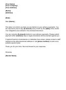 Alimony Payments Letter
