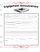 Newspaper Engagement Announcement Template