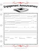 Newspaper Engagement Announcement Template