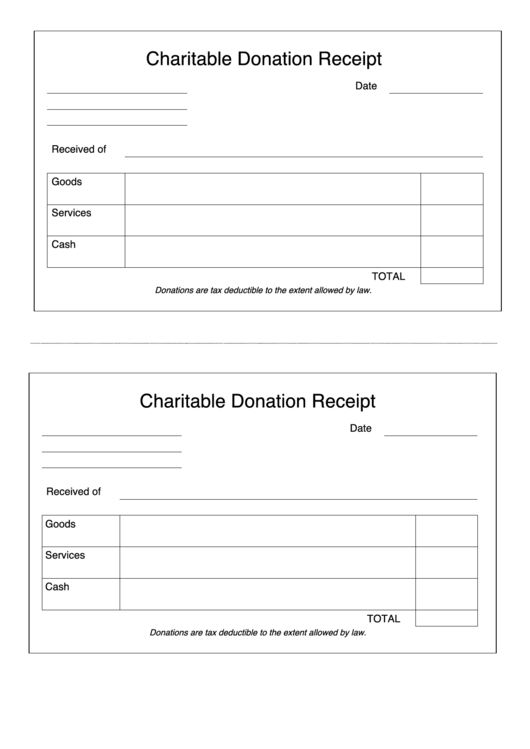 Charitable Donation Request