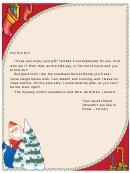 Secret Stealthy Santa Letter Template