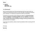Company Policy Explanation Letter Template