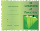 In Recognition Of Promotion
