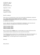 Defamation Letter