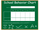 Weekly School Behavior Chart