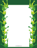 Green Crown Page Border Template