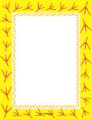 Yellow Bird Footprint Page Border