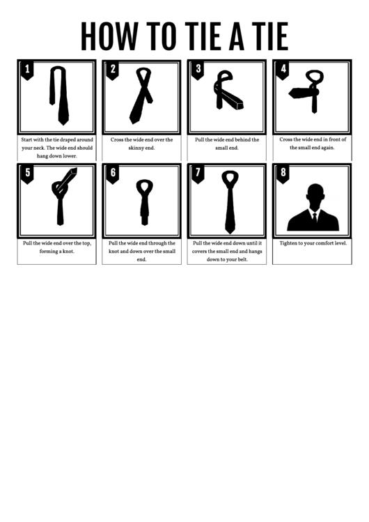 How To Tie A Tie Printable pdf