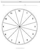 Clock Face Worksheet