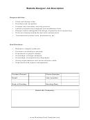 Website Designer Job Description