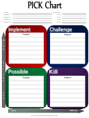 Pick Project Planning Chart