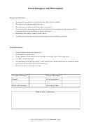 Floral Designer Job Description
