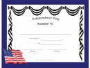 Independence Day Holiday Certificate