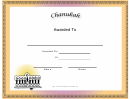 Chanukah Holiday Certificate Template