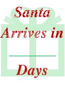 Santa's Arrival Banner Template