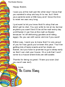 Easter Bunny Letter Template - Missed Child At Mall