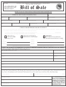 Bill Of Sale (vehicle Or Vessel) Template - New Mexico Motor Vehicle Division