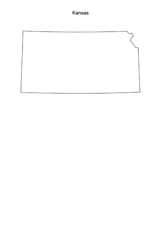 Kansas Map Template