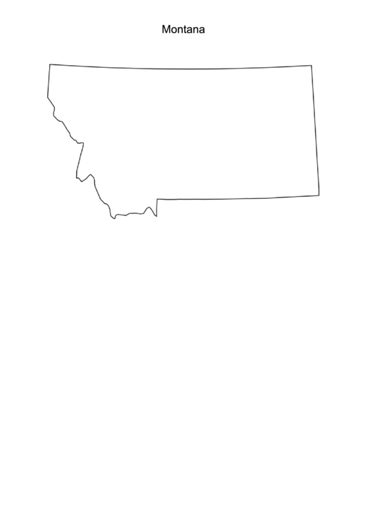 Montana Map Template