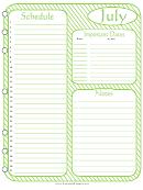 Schedule Planner - July