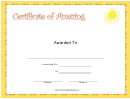 Amazing Certificate
