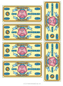 Classroom Currency One Hundred Dollar Bill Template