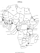 Africa Labeled Map Template
