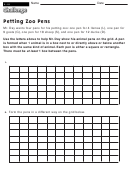Petting Zoo Pens - Math Worksheet With Answers