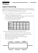 Logical Reasoning - Math Worksheet With Answers