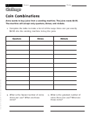 Coin Combinations - Math Worksheet With Answers