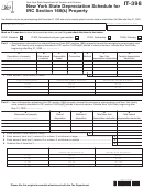 Form It-398 - New York State Depreciation Schedule For Irc Section 168(k) Property - 2011