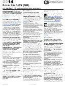 Form 1040-es (nr) - Estimated Tax Payment Voucher - 2014