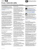 Form 1040-es (nr) - Estimated Tax Payment Voucher - 2013