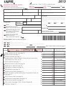 Form 1npr - Nonresident & Part-year Resident Wisconsin Income Tax - 2013