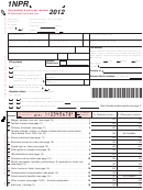 Form 1npr - Nonresident & Part-year Resident Wisconsin Income Tax - 2012