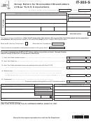 Form It-203-s - Group Return For Nonresident Shareholders Of New York S Corporations - 2011