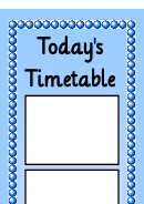 Today's Timetable 12 Sessions Vertical Template