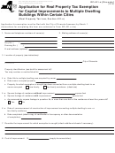 Form Rp-421-n [oneonta] - Application For Real Property Tax Exemption For Capital Improvements To Multiple Dwelling Buildings Within Certain Cities