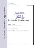 Sd Eform 1974 V3 - Tax Refund Or Delay Programs