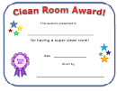 Clean Room Award Certificate