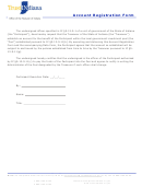 Account Registration Form - Office Of The Treasurer Of Indiana