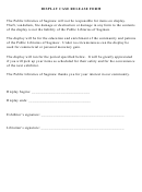 Display Case Release Form - Public Libraries Of Saginaw
