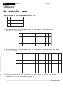 Perimeter Patterns - Math Worksheet With Answers