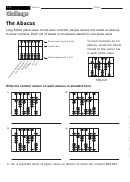The Abacus - Math Worksheet With Answers