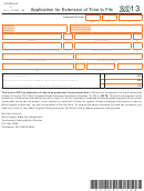 Shedule L (form It-140) - Application For Extension Of Time To File - 2013