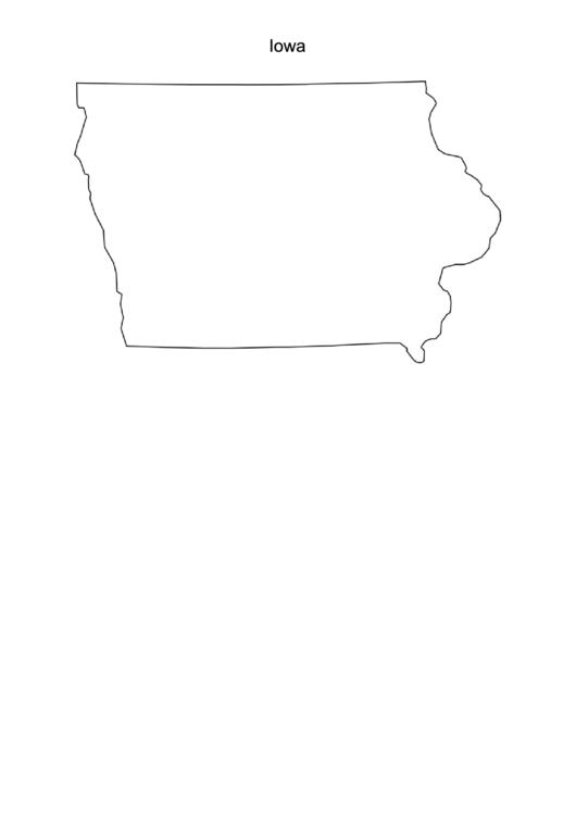 Iowa Map Template printable pdf download