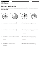 Spinner Match-up - Fractions Worksheet With Answers